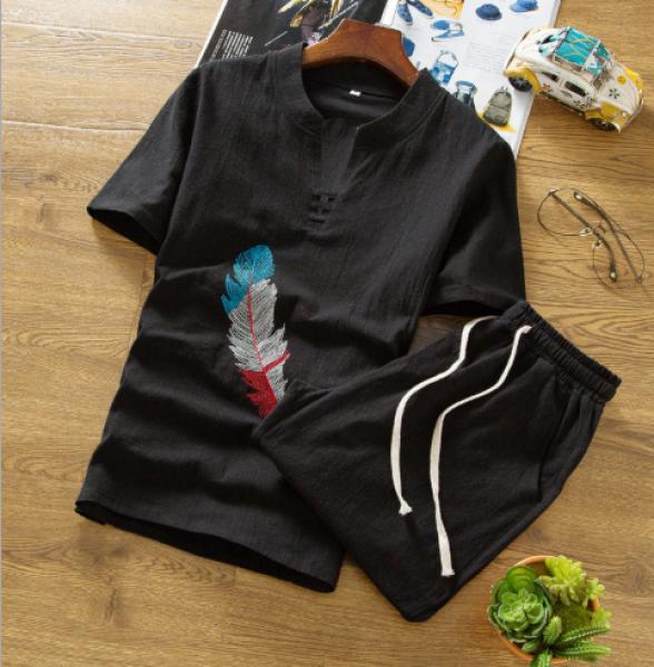 Nơi bán [Nhiều Màu] Bộ quần áo nam đũi ngắn tay, chất mềm đẹp mặc mát như không!!