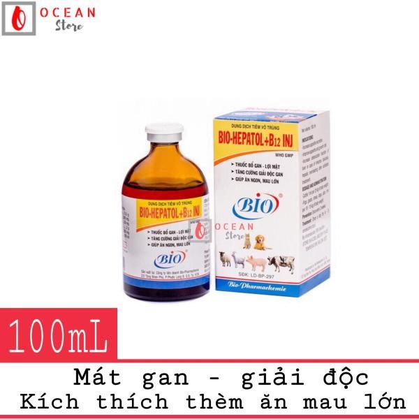 Thuốc tiêm mát gan giải độc, kích thích thèm ăn cho chó mèo - Bio Hepatol + B12 INJ (100ml)