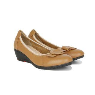 [HCM]Giày Bít Xuồng Hạnh Dung HD2207AX ( Màu Bò-Đen) thumbnail