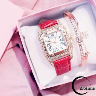 Đồng hồ thời trang nam nữ mặt vuông đính đá cực đẹp ZO46 thumbnail