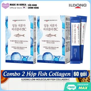 Combo 2 Hộp Bột uống Collagen cá Nguyên chất & Vitamin C Đẹp da sáng mịn, Chống lão hóa ILDONG Fish Collagen C Hàn Quốc (Uống 2 tháng) thumbnail