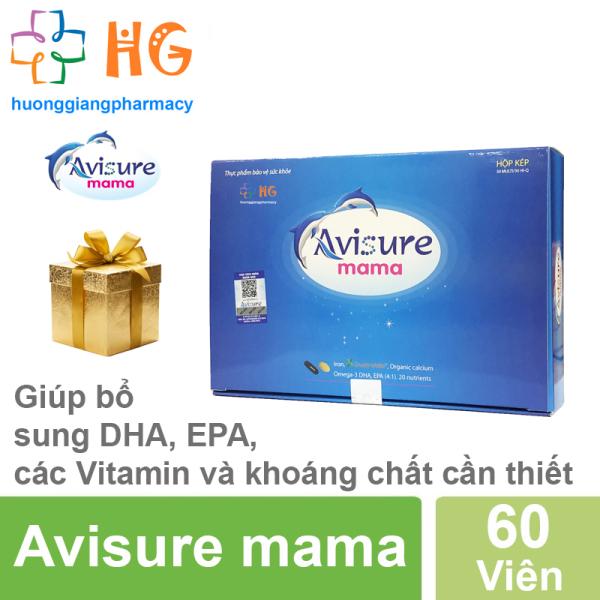 Avisure mama - Bổ sung DHA, EPA, các Vitamin và khoáng chất cần thiết trước và sau sinh (Hôp chứa 2 hộp 30 Viên) cao cấp