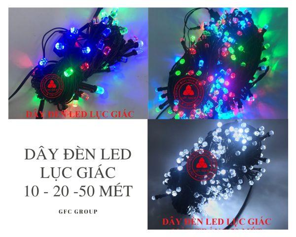 Bảng giá Dây đèn LED nhiều màu 10m / 20m hoặc 50m bóng lục giác chống nước