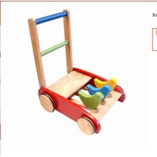Xe tập đi gỗ trẻ em hình con gà đáng yêu cho bé hót thumbnail