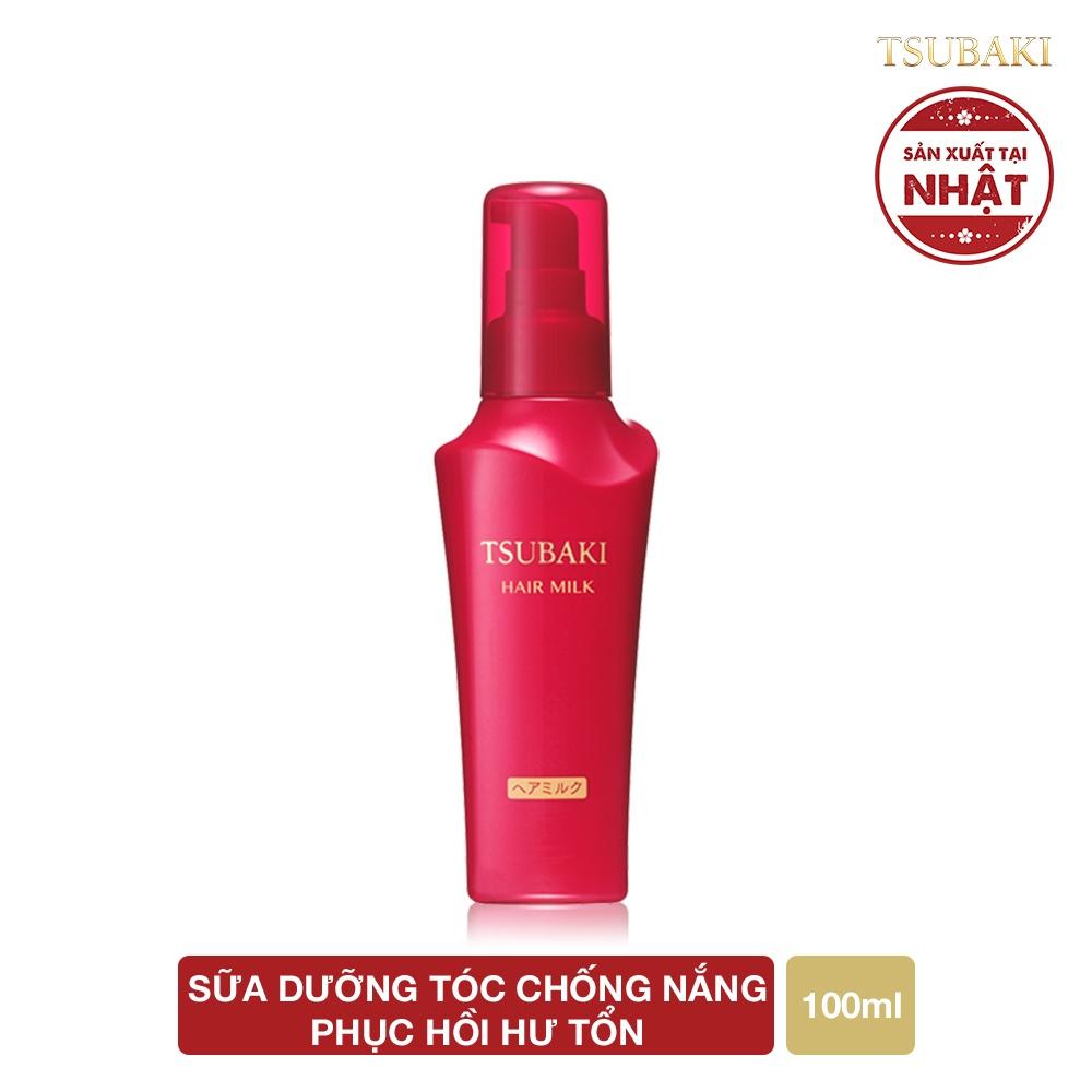 Sữa dưỡng tóc chống nắng - Phục hồi hư tổn TSUBAKI HAIR MILK 100ML