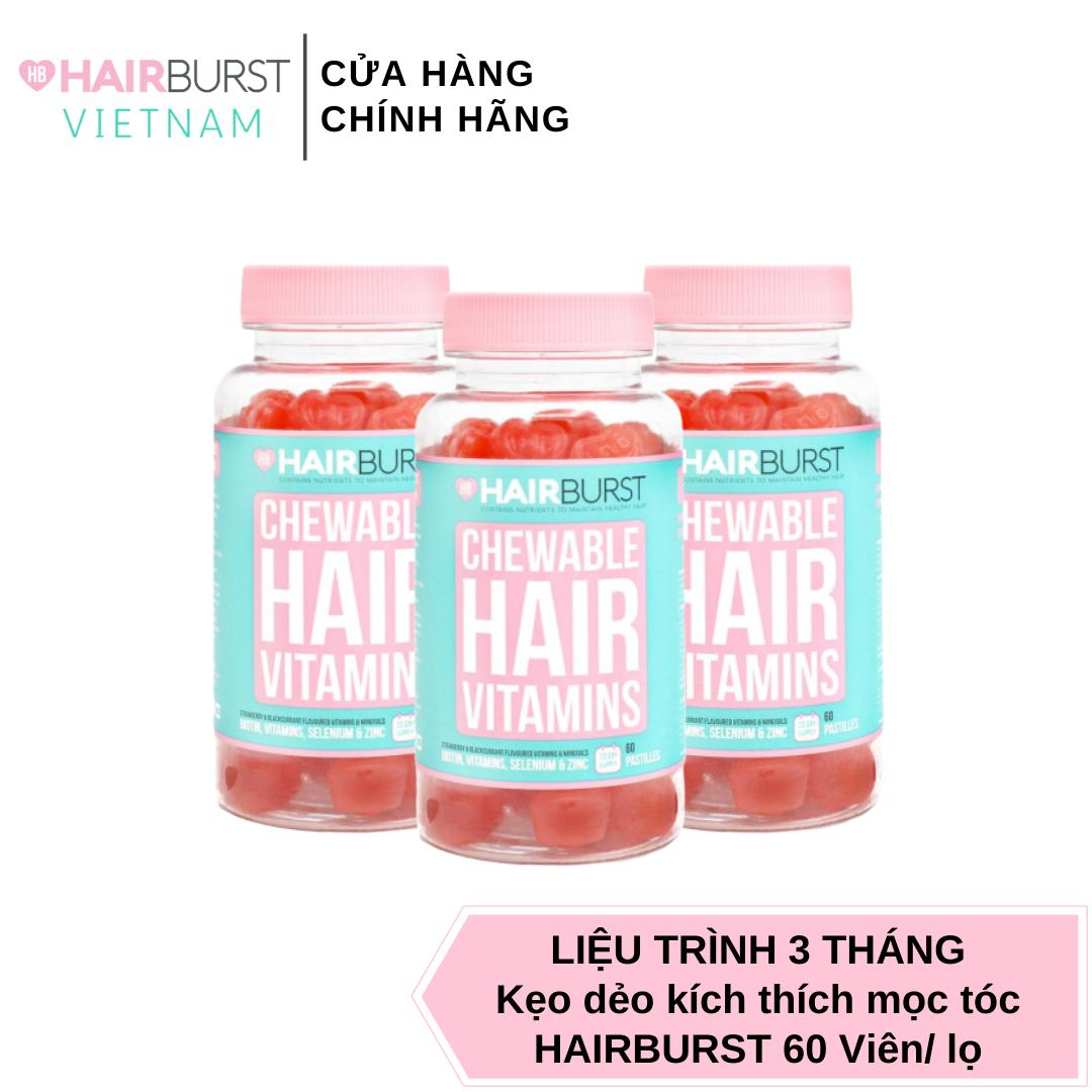 Combo 3 lọ kẹo dẻo vitamin chăm sóc, kích thích mọc tóc HAIRBURST chewable hair vitamins 60 gram/ 1 lọ Chưa Có Đánh Giá nhập khẩu