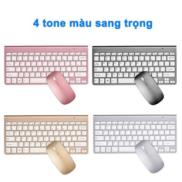 Bảng giá [ BH 6 THÁNG ] Bàn Phím và Chuột Không Dây Chống Thấm Nước 2.4G dùng cho laptop máy tính pc Phong Vũ