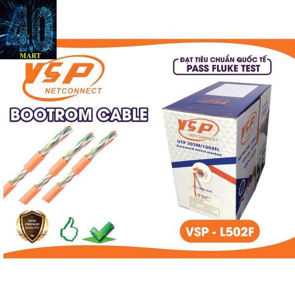 Bảng giá Cáp mạng VSP cáp 5E UTP L502F (305m) cáp dây cam Phong Vũ