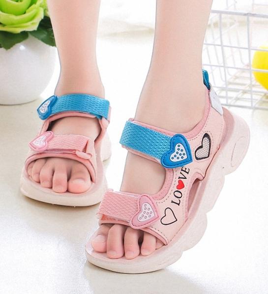 Sandal in hình trái tim cho bé gái S0119 giá rẻ