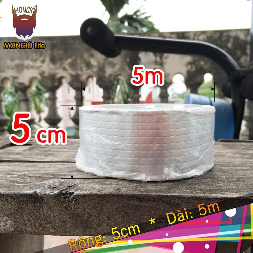 5cm x 5m - Băng keo dán chống nước chuyên dụng - 5cm x 5m (Màu Bạc vuông)