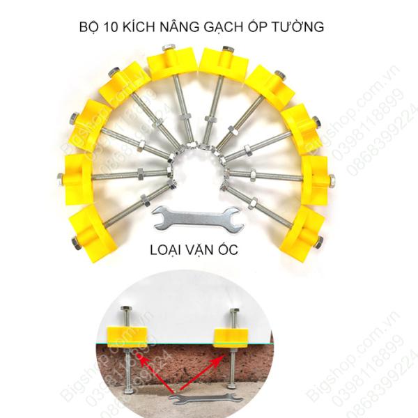 Bộ 10 kích nâng gạch ốp tường loại vặn ốc