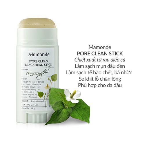 Thanh sáp sạch mụn đầu đen ngừa mụn thu nhỏ lỗ chân lông Mamonde Pore Clean  Stick 18g  Chăm Sóc Cơ Thể