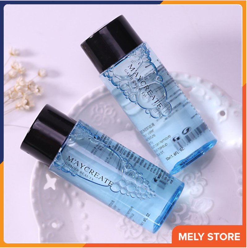 Nước tẩy trang MayCreate 50ml làm sạch lớp trang điểm, bụi bẩn còn xót lại trên da, giữ ẩm và thu nhỏ lỗ chân lông, nước tẩy trang dưỡng da, làm sáng da, trắng da SPU052-50