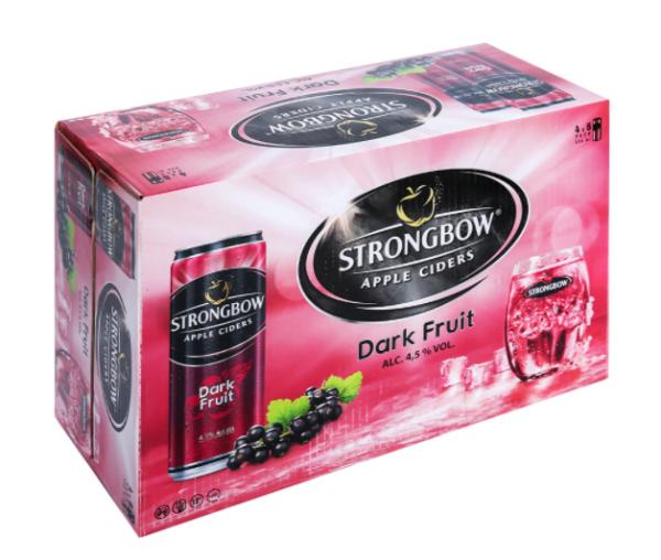 1 thùng 24 lon strongbow nho đen dark fruit 330ml