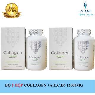 Bộ 2 Hộp Viên Uống Đẹp Da Collagen +AEC B5 12000MG USA - Hộp 180 Viên thumbnail