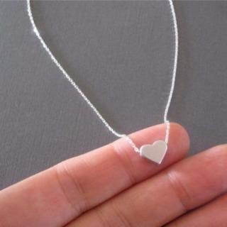 Dây chuyền nữ- dây chuyền bạc S925 mặt tim dễ thương thumbnail