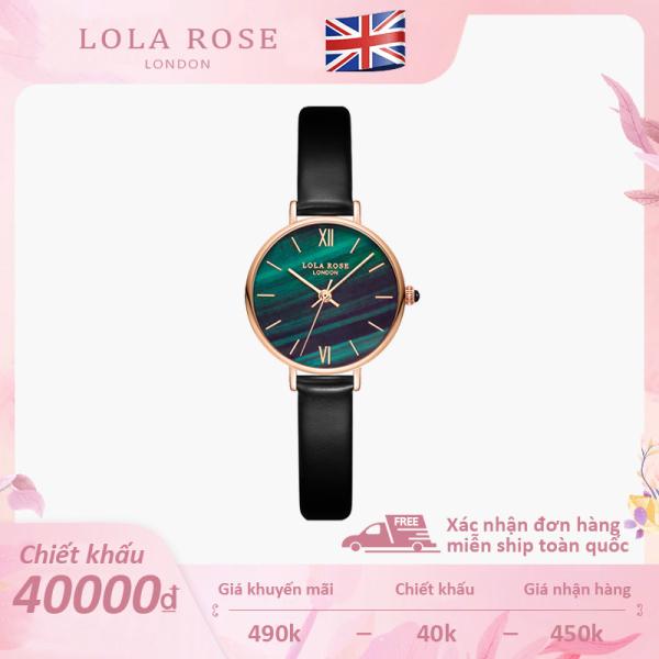 Đồng hồ nữ chính hãng Lola Rose dây da mặt đá sa thạch malachite 24-30mm thiết kế tinh tế sang trọng đồng hồ đơn bảo hành 2 năm đồng hồ nữ đẹp bán chạy