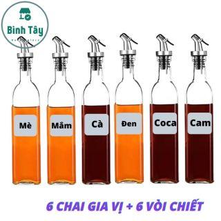 6 bình thuỷ tinh 500ml đựng nước TẶNG kèm nắp cài chiết dầu ăn an toàn dung tích 500ml BT-B080 thumbnail