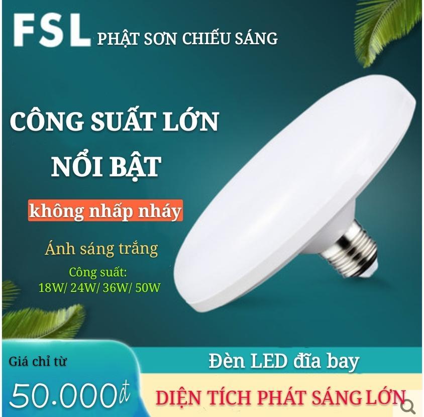 Mã Coupon Bóng đèn Led UFO- A Minh -(18W24W-36W-50w) ánh Sáng Trắng