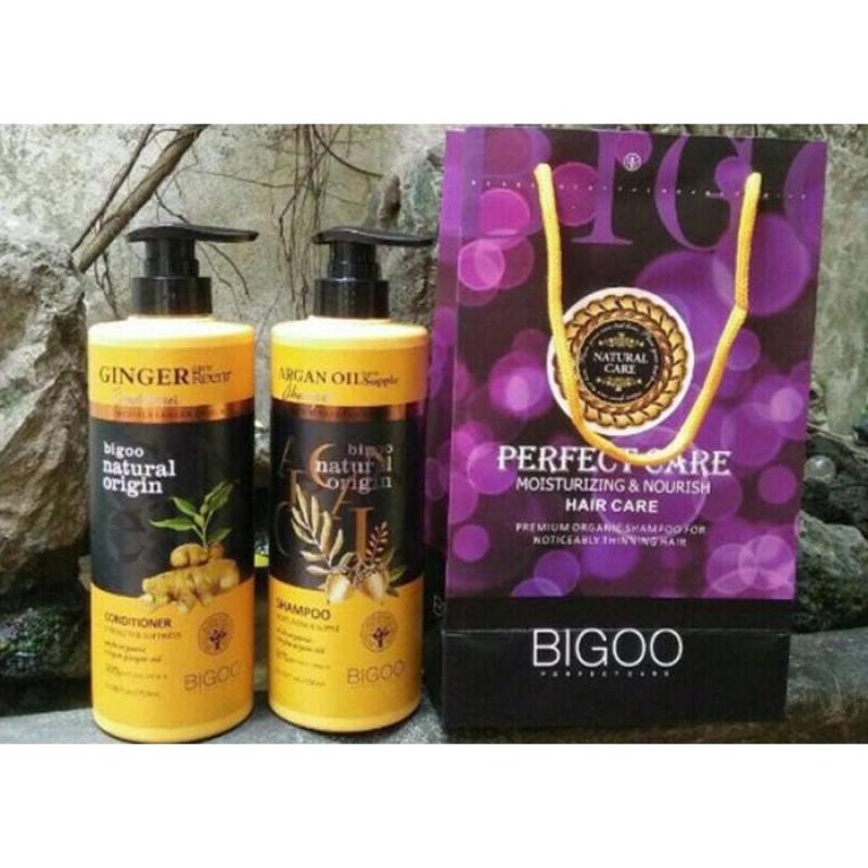 Bộ Dầu Gội Xả Tinh Chất Gừng Bigoo Natural Oringin Cao Cấp Ý 780ml giá rẻ
