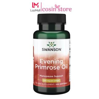 Viên uống tinh dầu hoa anh thảo Swanson Evening Primrose Oil 500 mg 100 viên USA Hỗ trợ đẹp da ổn định nội tiết tố thumbnail