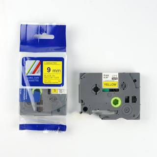 Nhãn in CPT-621 tương thích máy in nhãn Brother P-Touch - Nhãn in chữ đen nền vàng khổ 9mm (Yellow) thumbnail