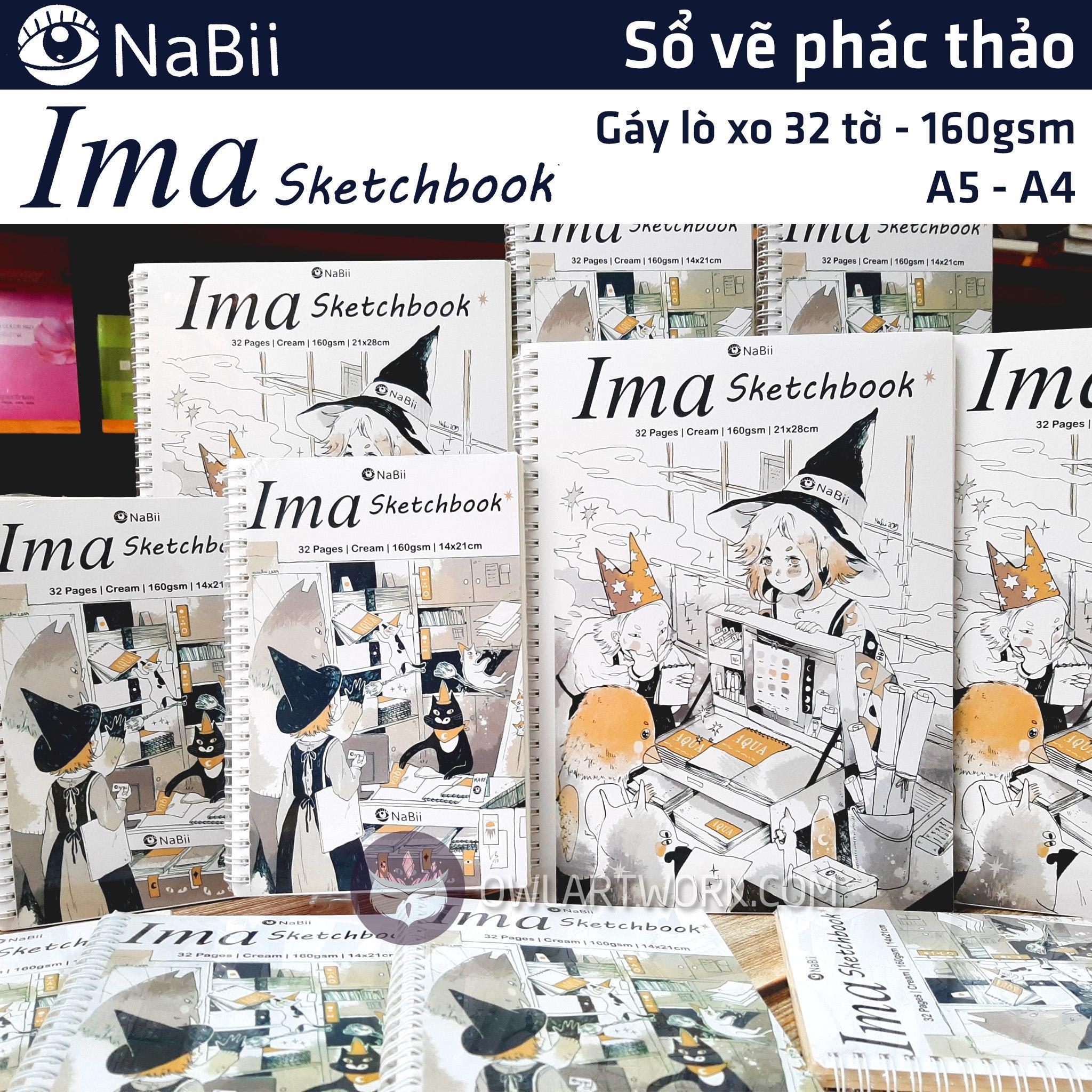 Mua Sổ vẽ phác thảo giấy NaBii Ima Sketchbook 160gsm 32 tờ