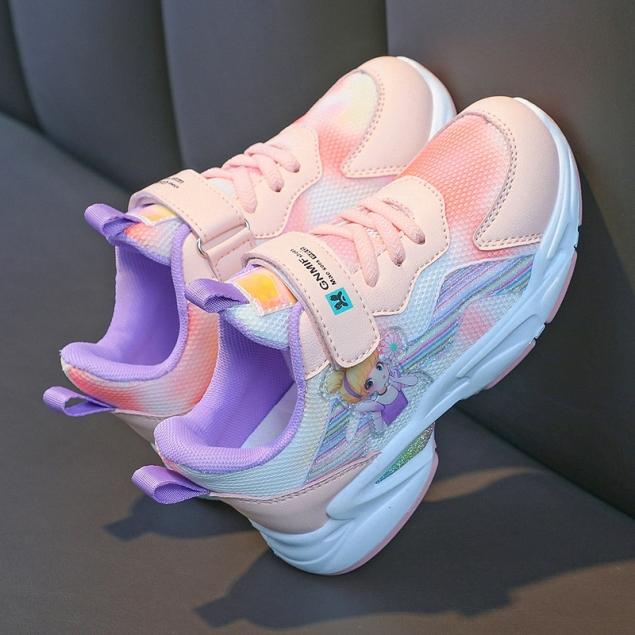 Giày thể thao bé gái, giày đi học bé gái mẫu mới nhất HQS49 giá rẻ