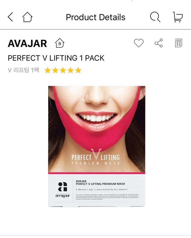 Hộp 5 Mặt Nạ V Line AVAJAR Perfect V Lifting Premium Mask cao cấp