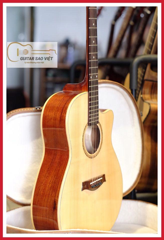 Đàn guitar acoustic full solid có EQ mã Star-02CE