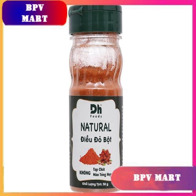 Điều đỏ bột Dh Food Natural hũ 50g TẶNG MÃ GIẢM GIÁ GIA VỊ NẤU ĂN GIA VỊ NÊM - BPMart