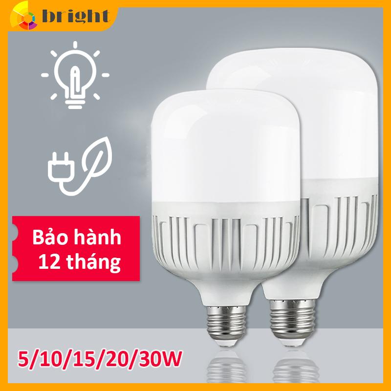 Bóng đèn LED trụ tròn tiết kiệm điện e27 chống thấm nước công suất cao siêu sáng(Ánh sáng Trắng-bảo hành 12 tháng)