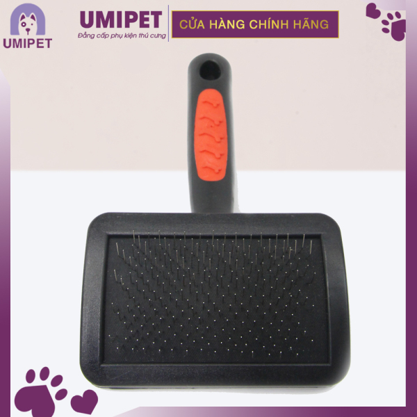 Lược chải lông rụng cho Chó Mèo UMIPET - Lược chải bông lông nhựa cán đen