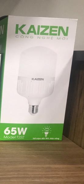 [ XẢ KHO ] 65W Bóng đèn LED trụ 65W KAIZEN siêu sáng tiết kiệm 80% điện ánh sáng TRẮNG