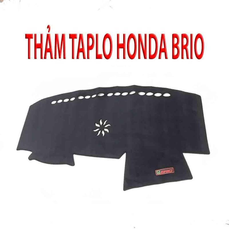 Thảm Taplo Cho Xe Honda Brio - Thảm Taplo Da Carbon Cao Cấp Cho Ô Tô - Chống Nắng Cách Nhiệt, Chống Thấm Nước Tuyệt Đối - Tặng Túi Thơm Cây Thông Thơm Treo Xe