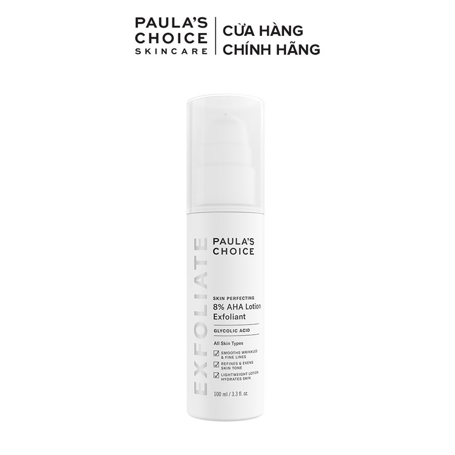 Lotion loại bỏ tế bào chết làm sáng da Paula's Choice Skin Perfecting 8% AHA Lotion 100ml