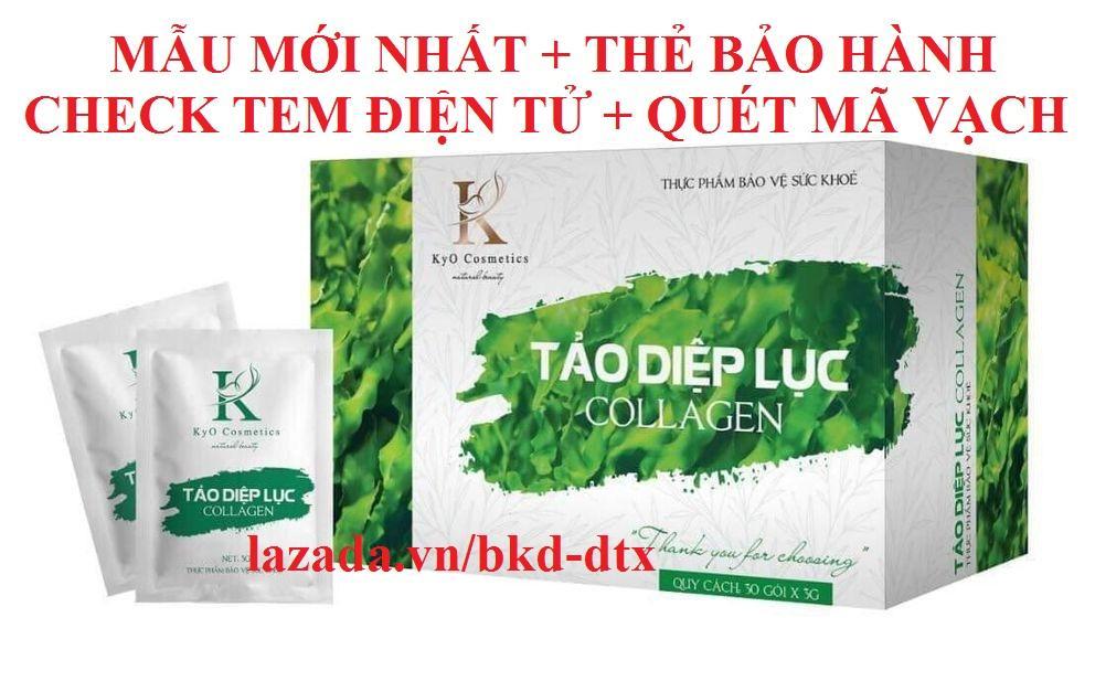 Offer Khuyến Mại Tảo Diệp Lục Collagen KYO Nhiều Công Dụng - Mẫu Mới Nhất + Thẻ Bảo Hành + Check Mã Điện Tử