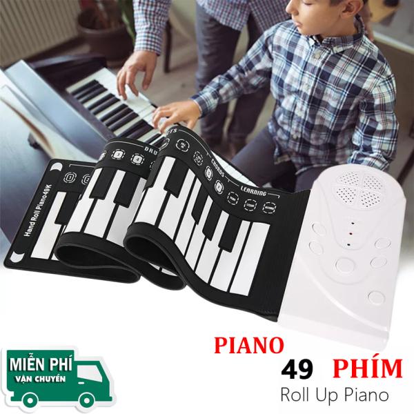 Đàn Piano 49 Phím - Đàn Piano Cực Hay Konix 49 phím cuộn mềm dẻo Flexible MD88P - Có Pedal, cáp kết nối USB.