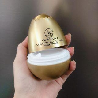 Mặt nạ xóa nếp nhăn quả trứng vanekaa yeast royal jelly egg shell mask cream thumbnail