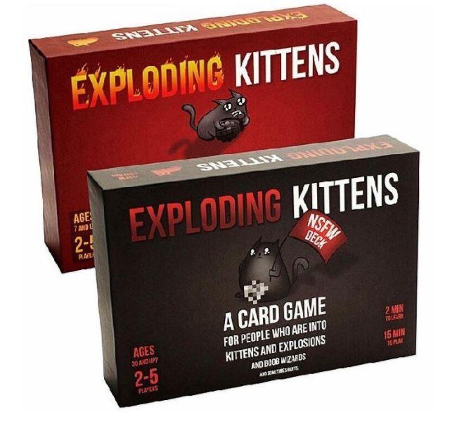 Vinmall Combo Exploding Kitten - 02 Bộ Mèo Nổ Màu Đỏ Và Đen Cơ Bản - BGVN Có Giá Tốt