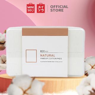 Bộ bông tẩy trang từ bông cao cấp 800 miếng cotton pad Miniso (Trắng) thumbnail