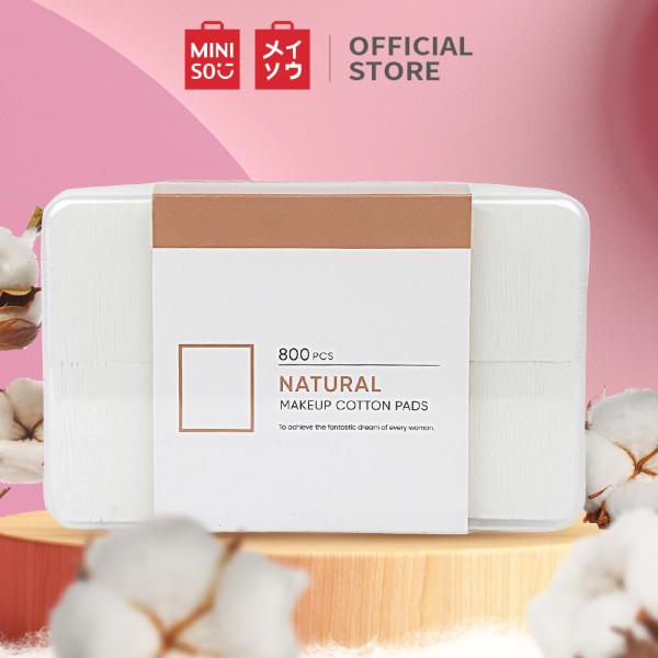 Bộ bông tẩy trang từ bông cao cấp 800 miếng cotton pad Miniso (Trắng)