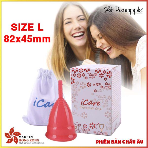 Cốc nguyệt san silicone CAO CẤP thay thế băng vệ sinh và tampon Icare SIZE L
