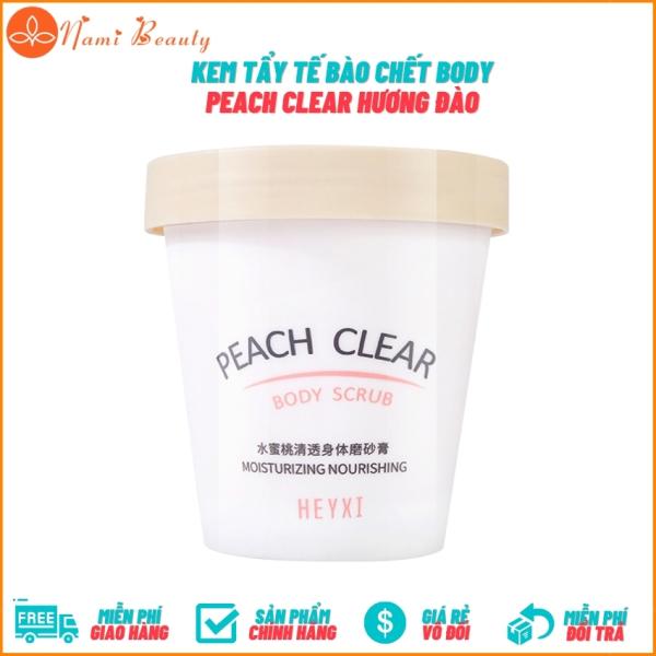 Kem Tẩy Da Chết Body Đào Peach Clear Giúp Da Láng Mịn Dưỡng Ẩm Và Làm Sáng Da - Nami Beauty