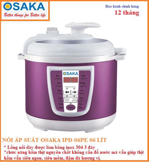 Nồi Áp Suất Điện Tử Osaka IPD-06PE (6 lít)