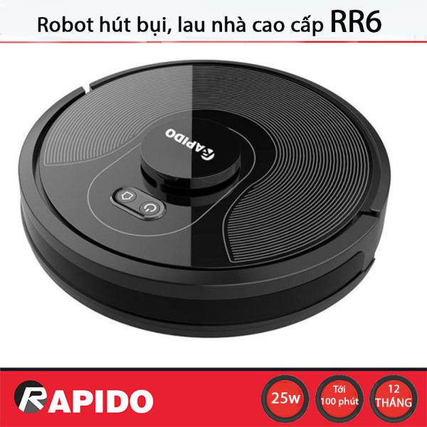 Robot Hút Bụi Lau Nhà Rapido RR6 - Phiên Bản Mới【Bảo Hành Chính Hãng Ferroli 】