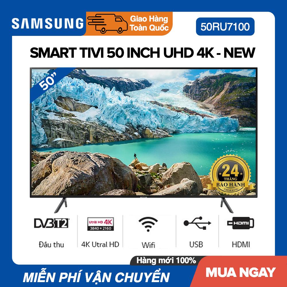 Bảng giá Smart Tivi Samsung 50 inch UHD 4K - Model UA50RU7100 Bộ xử lý UHD Processor, UHD Dimming, Bluetooth, Youtube - Bảo Hành 2 Năm