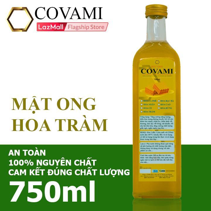 Offer Khuyến Mãi Mật Ong Hoa Tràm COVAMI 750ml Loại Chai Thủy Tinh Cao, Nguyên Chất, An Toàn, Cam Kết đúng Chất Lượng