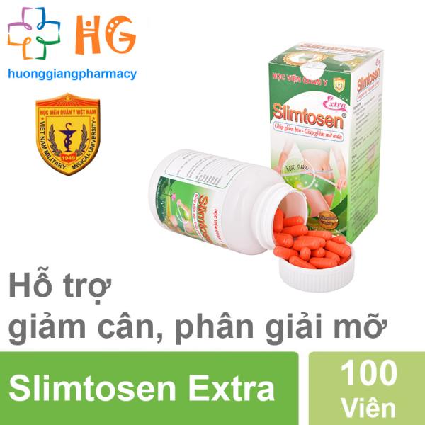 Viên uống giảm cân Slimtosen Extra Học Viện Quân Y - Giảm cân an toàn (Hộp 100 viên)