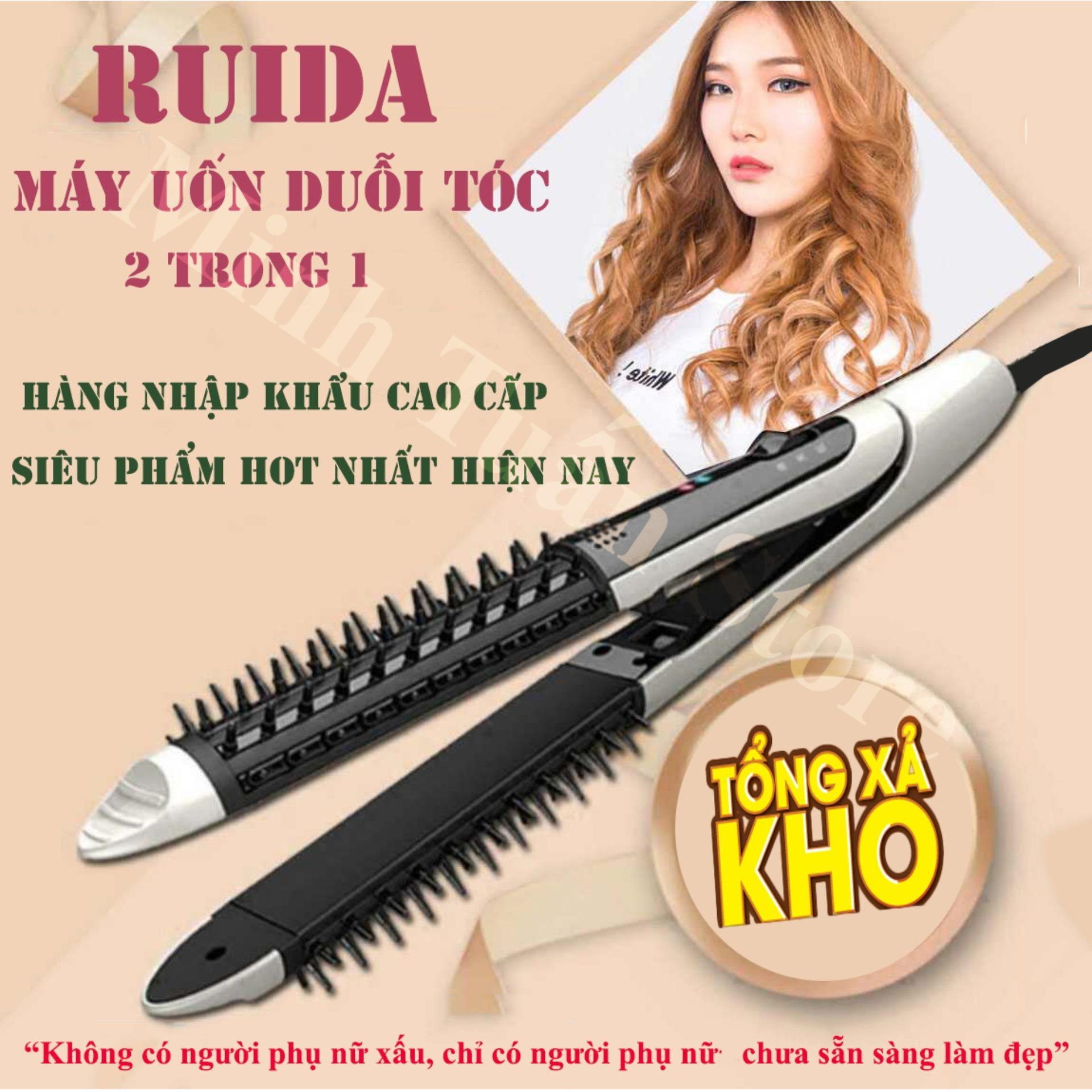 Lược điện đa năng Uốn Duỗi làm xoăn Bảo vệ tóc Thiết kế tại NHẬT BẢN JAPAN - Mua nhanh máy duỗi tóc chất lượng cao, giá tốt tại MinhTuan Store giá rẻ